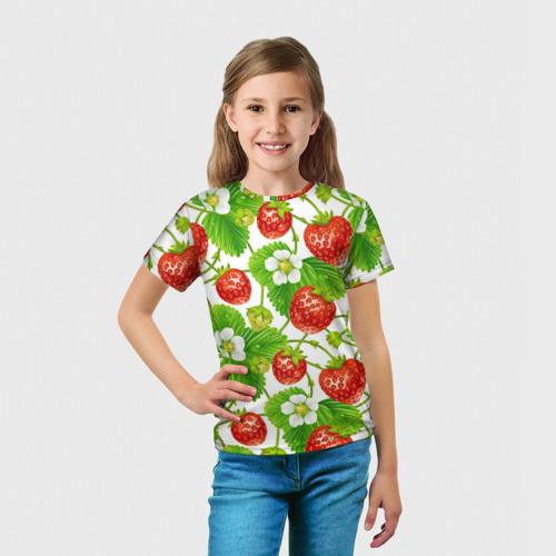 Детская футболка 3D Земляника за  1090 рублей в интернет магазине Принт виды с разных сторон