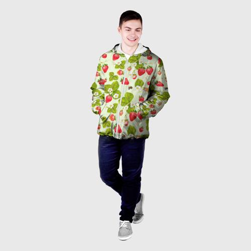 Мужская куртка 3D Клубника и земляника Фото 01
