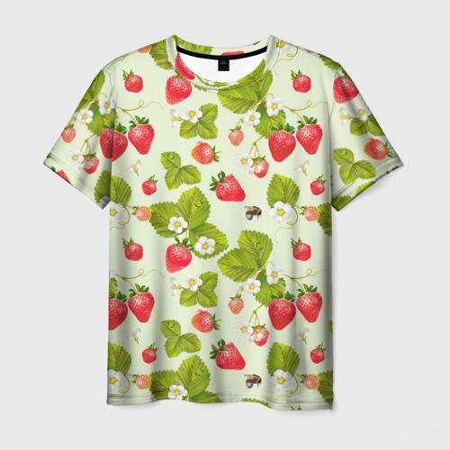 Мужская футболка 3D Клубника и земляника за  1090 рублей в интернет магазине Принт виды с разных сторон