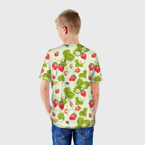 Детская футболка 3D Клубника и земляника за  1090 рублей в интернет магазине Принт виды с разных сторон