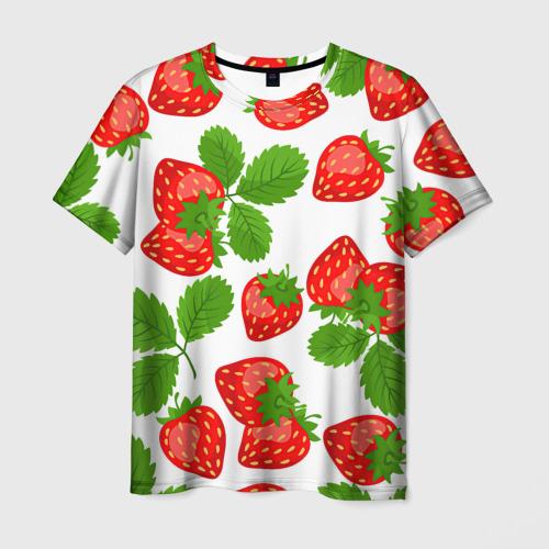 Мужская футболка 3D Клубника за  1090 рублей в интернет магазине Принт виды с разных сторон