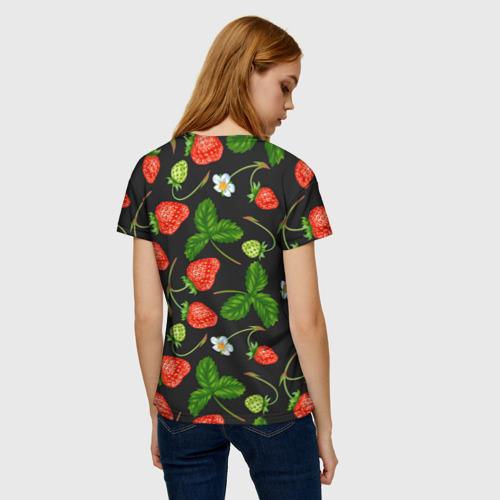 Женская футболка 3D Клубника за  1090 рублей в интернет магазине Принт виды с разных сторон