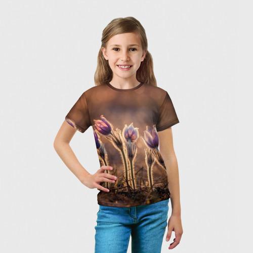 Детская футболка 3D Цветы за  1090 рублей в интернет магазине Принт виды с разных сторон