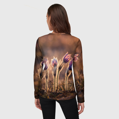 Женский лонгслив 3D Цветы за  1590 рублей в интернет магазине Принт виды с разных сторон