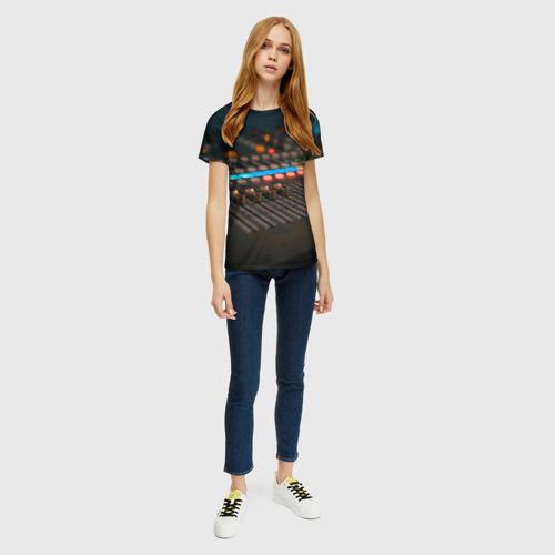 Женская футболка 3D МУЗЫКА за  1090 рублей в интернет магазине Принт виды с разных сторон