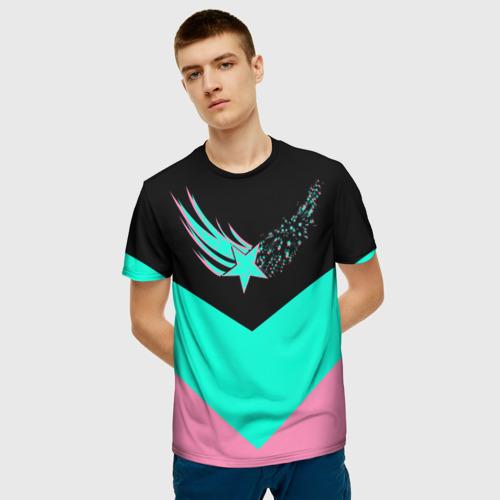 Мужская футболка 3D FALLING STAR   ПАДАЮЩАЯ ЗВЕЗДА за  1090 рублей в интернет магазине Принт виды с разных сторон