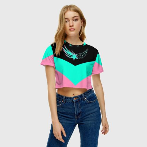 Женская футболка Crop-top 3D FALLING STAR | ПАДАЮЩАЯ ЗВЕЗДА за  1490 рублей в интернет магазине Принт виды с разных сторон