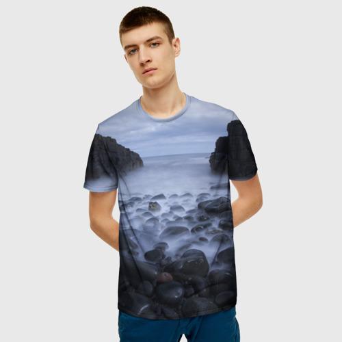 Мужская футболка 3D Горные породы за  1090 рублей в интернет магазине Принт виды с разных сторон