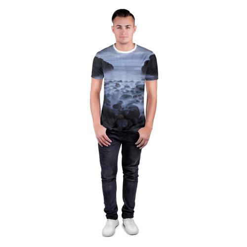 Мужская футболка 3D спортивная Горные породы за  1490 рублей в интернет магазине Принт виды с разных сторон