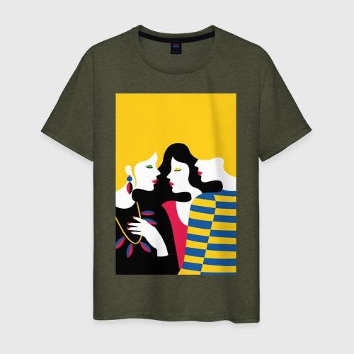 Мужская футболка хлопок Pop art 49 за  1190 рублей в интернет магазине Принт виды с разных сторон