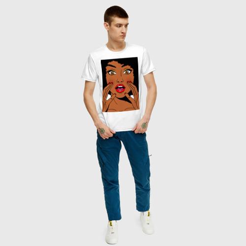 Мужская футболка хлопок Pop art 51 за  1190 рублей в интернет магазине Принт виды с разных сторон