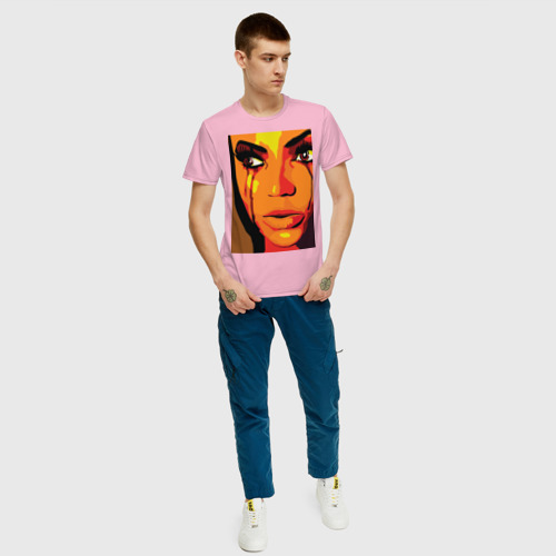 Мужская футболка хлопок Pop art 100-2 Фото 01