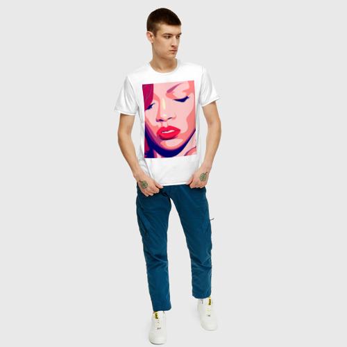 Мужская футболка хлопок Pop art 100-33 за  1190 рублей в интернет магазине Принт виды с разных сторон