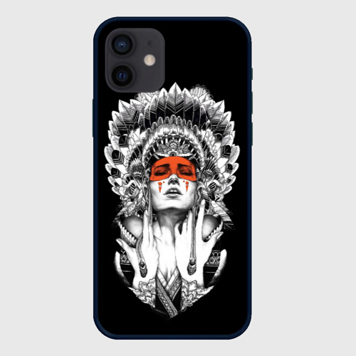 Чехол для iPhone 12 Pro Mini Женщина индеец Фото 01