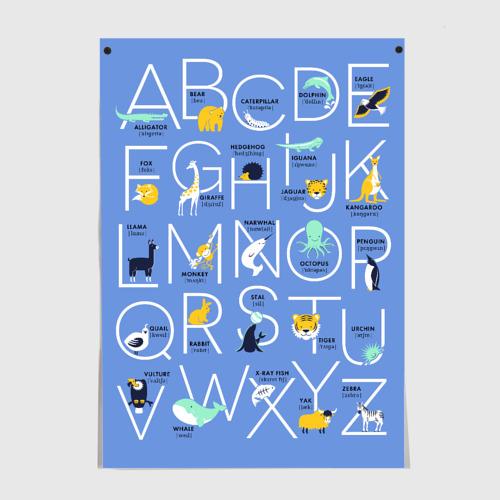 Английский алфавит с транскрипциями. Животные