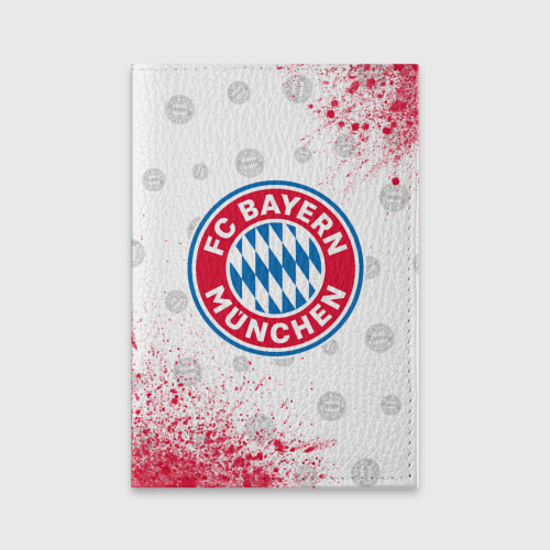 Обложка для паспорта матовая кожа FC BAYERN / БАВАРИЯ Фото 01