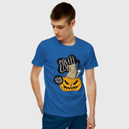 Мужская футболка хлопок Coffee right meow Фото 01