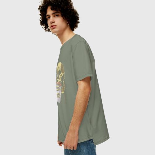 Мужская футболка хлопок Oversize Первым делом кофе Фото 01