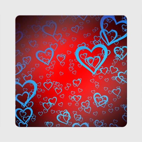 Магнит виниловый Квадрат Сердца Фото 01