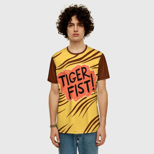 Мужская футболка 3D+ Tiger fist! Фото 01