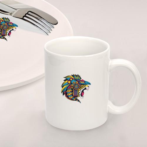 Набор: тарелка + кружка Ацтекский ягуар Фото 01