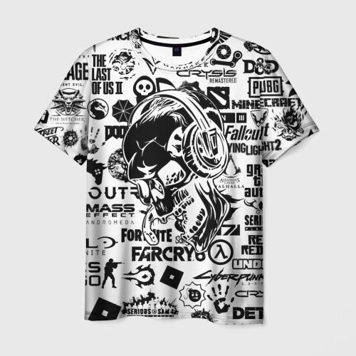 Мужская футболка 3D PROGAMER | Все Игры Фото 01
