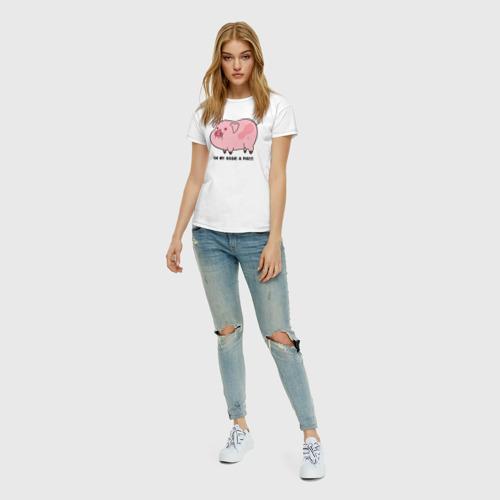 Женская футболка хлопок Пухля Фото 01