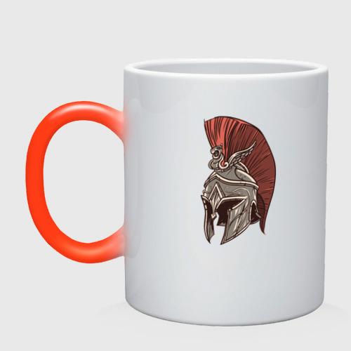 Кружка хамелеон Шлем Спартанца Фото 01