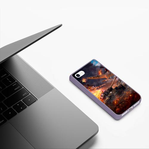 Чехол для iPhone 5/5S матовый Танк Фото 01