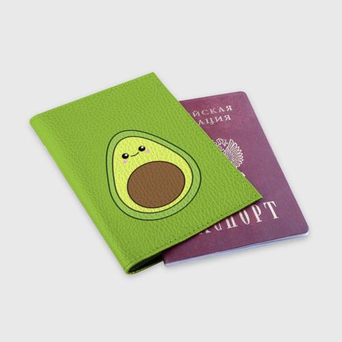 Обложка для паспорта матовая кожа Авокадо Фото 01