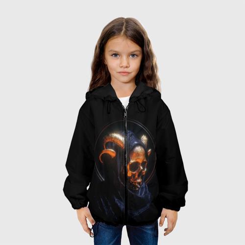 Детская куртка 3D Golden skull | 1.1 Фото 01