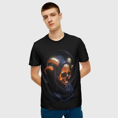 Мужская футболка 3D Golden skull | 1.1 за  1090 рублей в интернет магазине Принт виды с разных сторон
