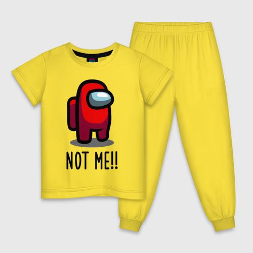 Детская пижама хлопок Among Us, Not Me! Фото 01