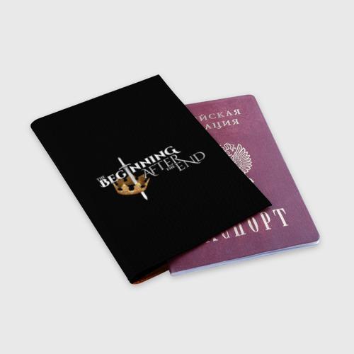Обложка для паспорта матовая кожа The beginning after the end Фото 01