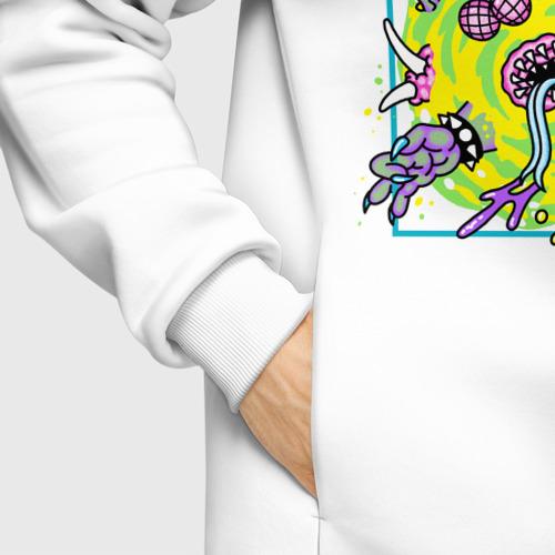 Мужское худи Oversize хлопок Rick & Morty Хэллоуин. Портал Фото 01