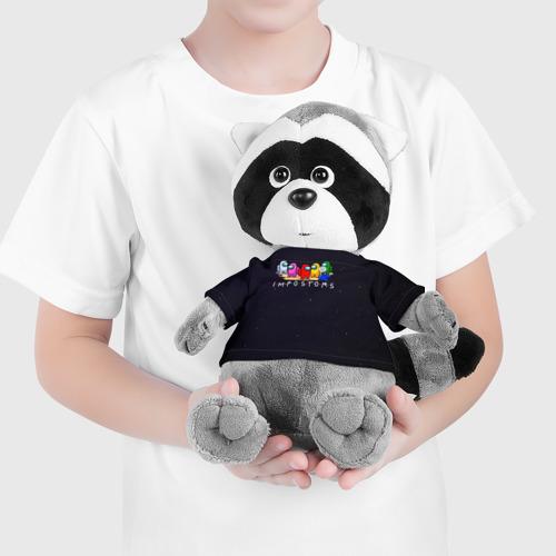 Игрушка Енотик в футболке 3D Among Us Фото 01