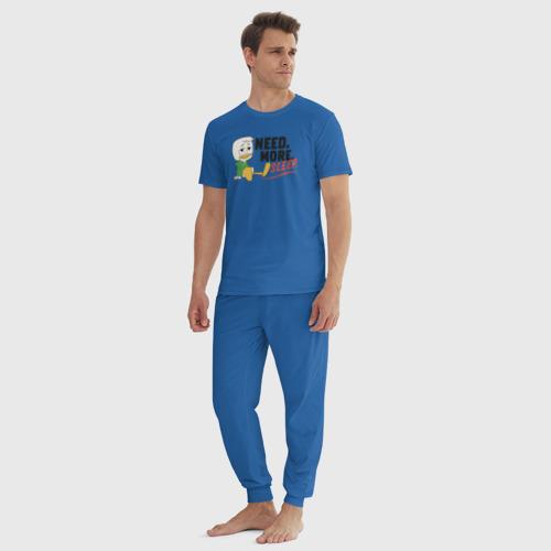 Мужская пижама хлопок Need. More. Sleep. Фото 01