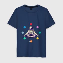Космонавт с планетами