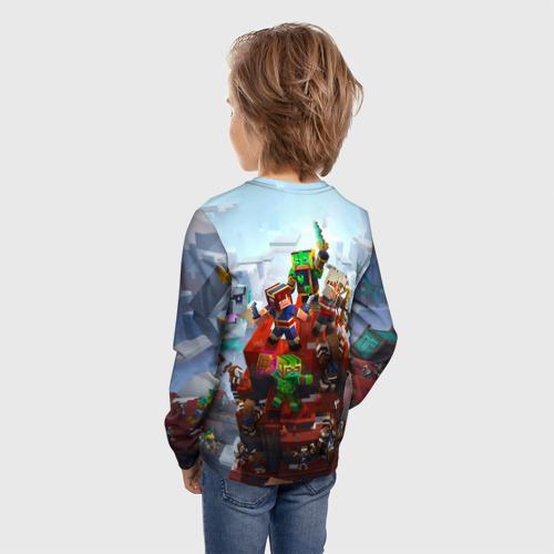 Детский лонгслив 3D Minecraft Dungeons Фото 01