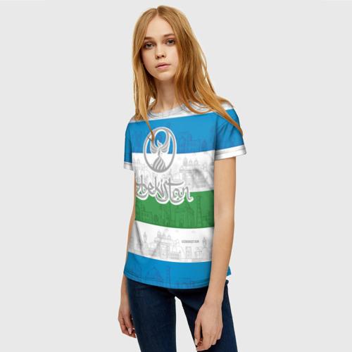Женская футболка 3D Узбекистан Фото 01