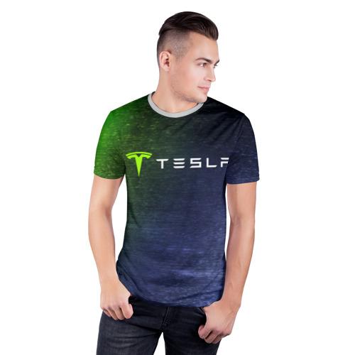 Мужская футболка 3D спортивная TESLA / Тесла Фото 01