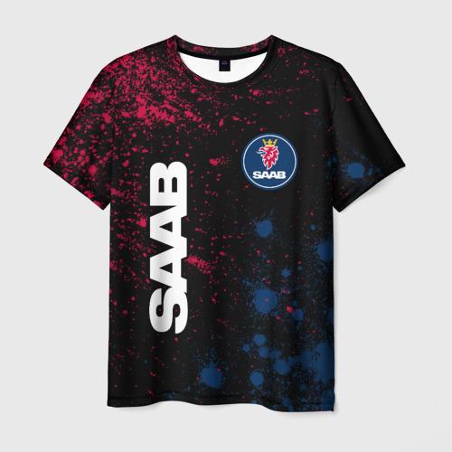 Мужская футболка 3D SAAB / Сааб Фото 01