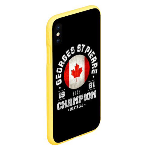 Чехол для iPhone XS Max матовый Жорж Сен-Пьер Фото 01