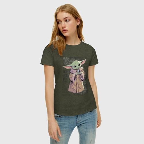 Женская футболка хлопок Дитя Фото 01