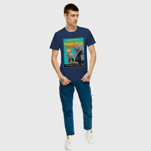 Мужская футболка хлопок Мандалорец и Дитя Фото 01