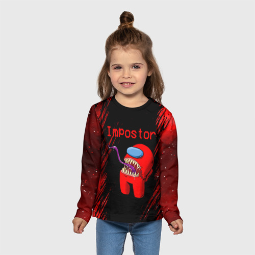 Детский лонгслив 3D AMONG US - IMPOSTOR Фото 01