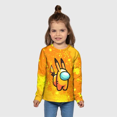 Детский лонгслив 3D AMONG US - Pikachu Фото 01