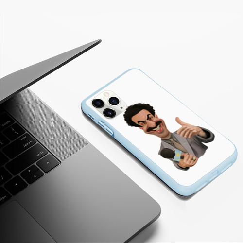 Чехол для iPhone 11 Pro Max матовый Борат Фото 01