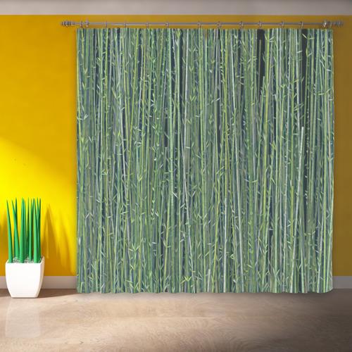 Фотошторы Зеленый бамбук Фото 01