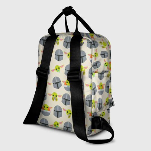 Женский рюкзак 3D Мандалорец и Малыш  Фото 01